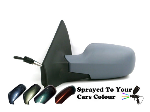 Renault Megane 8/2002-4/2009 Manual Cable Wing Mirror Passenger Side N/S Painted Sprayed