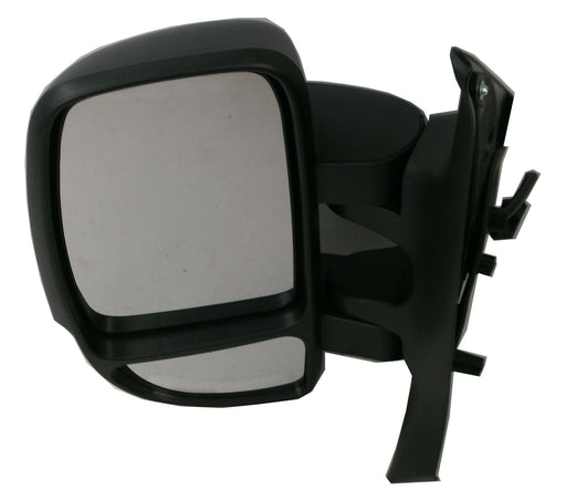 Vauxhall Movano 3/10+ Short Wing Mirror Manual Indicator Black Passenger Side
