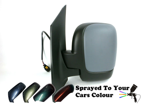 Peugeot Expert Mk2 2007+ Single Glass Wing Mirror Electric Passengers Painted Sprayed