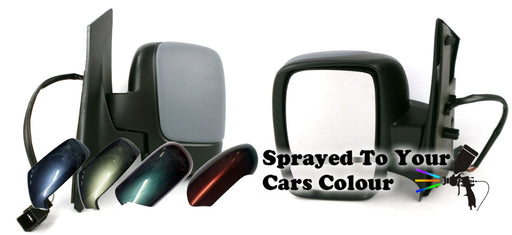 Citroen Dispatch Mk2 2007+ Twin Glass Wing Mirror Powered Passenger Side Painted Sprayed