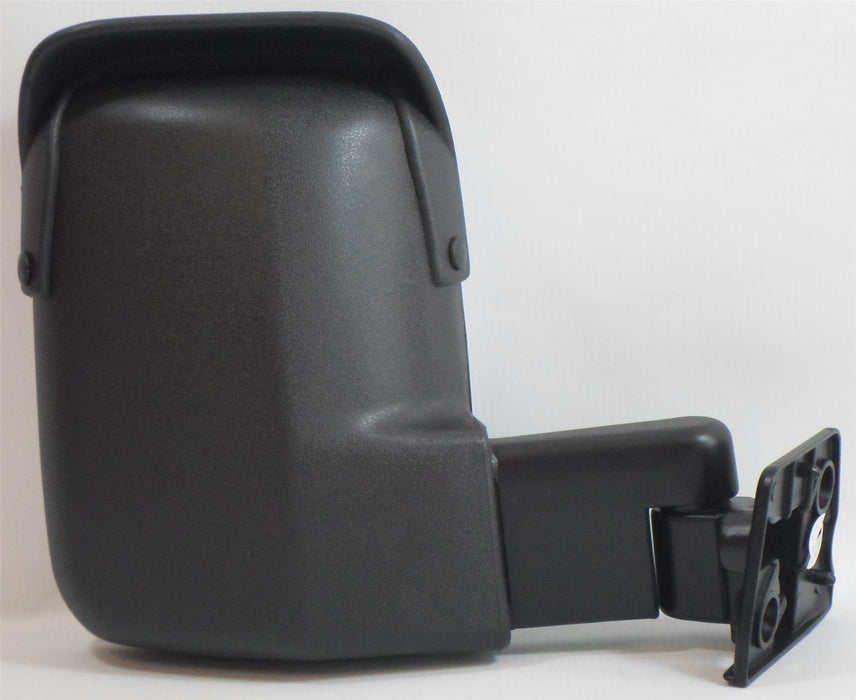 Ford Transit Mk3 & 4 1986-1994 Short Arm Wing Mirror Manual Black Drivers Side