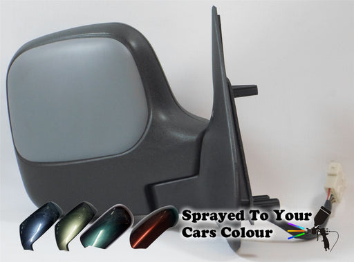Peugeot Partner Mk.1 2009-2011 Electric Wing Mirror Drivers Side O/S Painted Sprayed