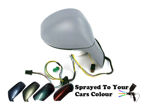 Citroen C4 2004-2010 Electric Wing Mirror Drivers Side Painted Sprayed Cover & Arm