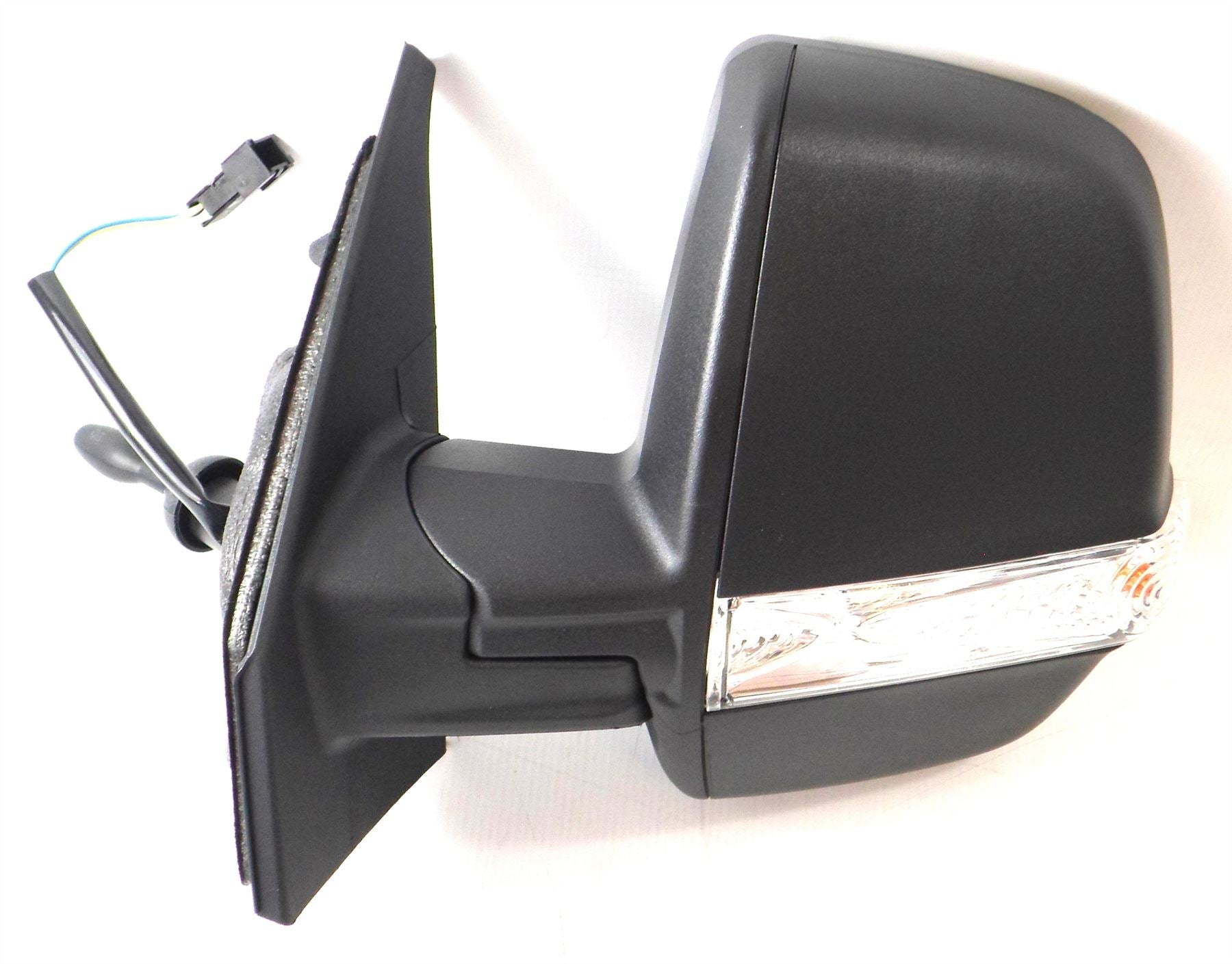 Vauxhall Combo 12+ Twin Glass Wing Mirror Cable Indicator Black Passenger Side