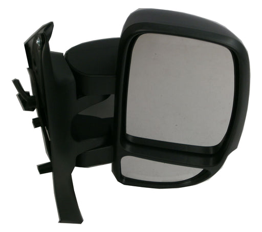 Vauxhall Movano 3/10+ Short Arm Wing Mirror Manual Indicator Black Drivers Side