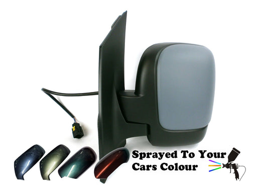 Peugeot Expert Mk2 2007+ Twin Glass Wing Mirror Electric Passenger Side Painted Sprayed