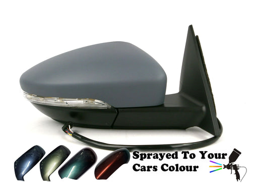 VW Beetle Mk3 3/2012+ Electric Wing Mirror Heated Indicator Drivers Side Painted Sprayed