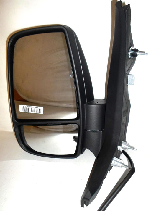 Ford Transit Mk8 3/14+ Short Arm Wing Mirror Manual Indicator 5w Black Passenger