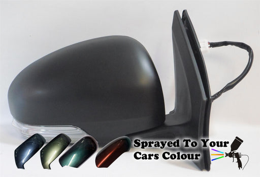 Toyota iQ 2009+ Electric Wing Mirror Heated Indicator Drivers Side O/S Painted Sprayed