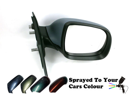 VW Transporter T5 1/10-2015 Manual Wing Mirror Excl. Aerial Drivers Side Painted Sprayed
