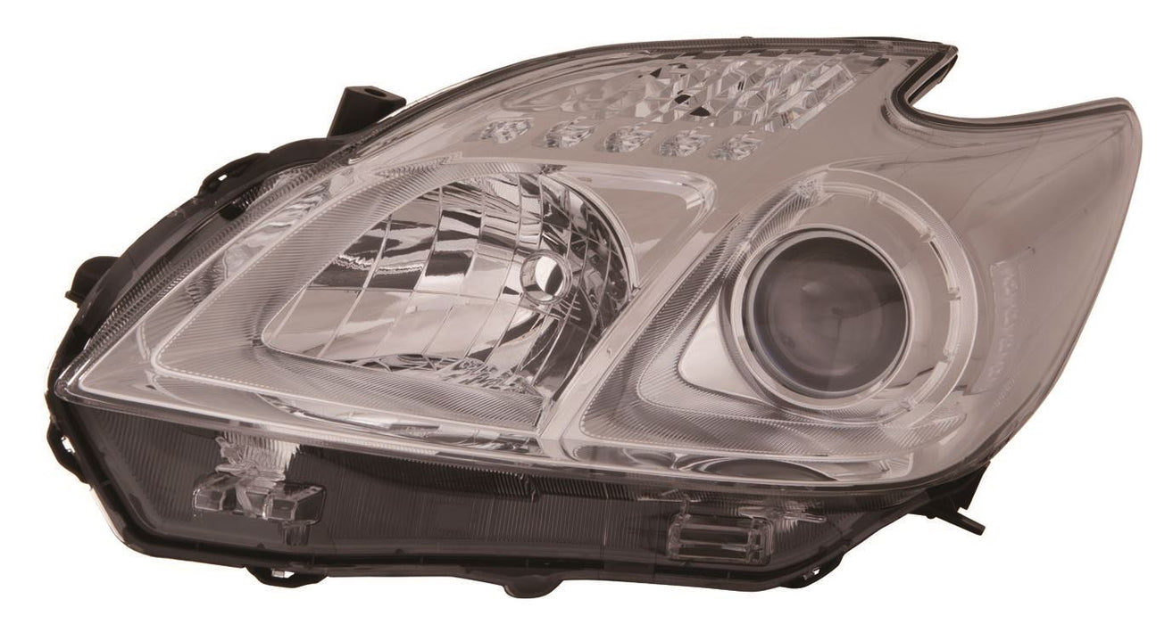 Toyota Prius ZVW30 Hatch 4/12-6/16 Light Grey Tint Headlight Passenger Side N/S