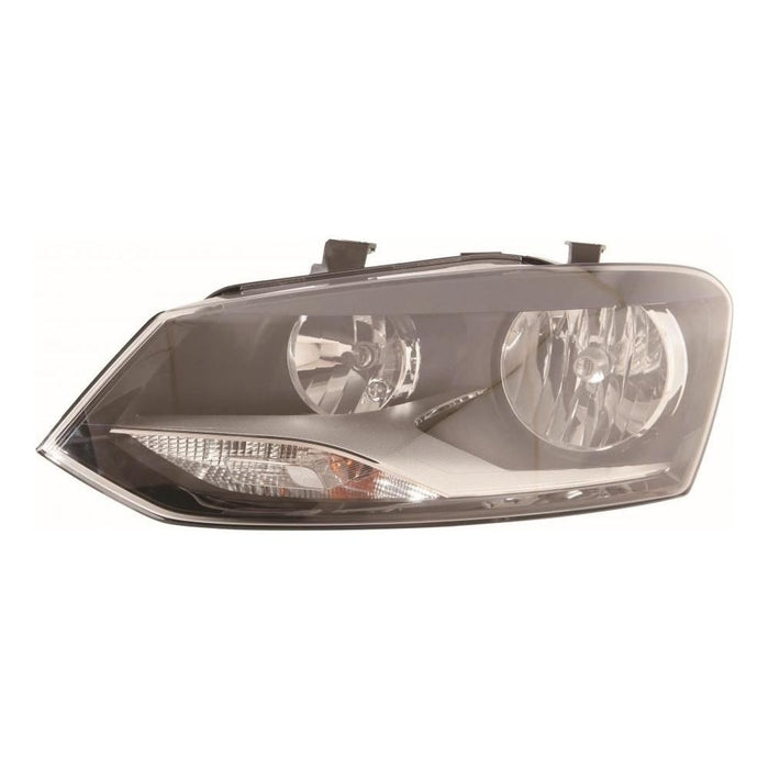 VW Polo Mk5 6R Hatch 10/2009-7/2014 Twin Reflector Headlight Passenger Side N/S