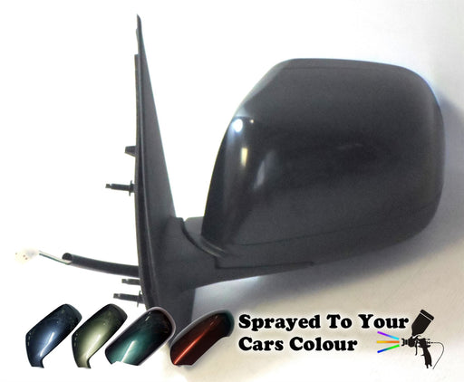 Nissan Micra Mk4 9/2010-8/2017 Electric Wing Mirror 3 Pin Passenger Side Painted Sprayed