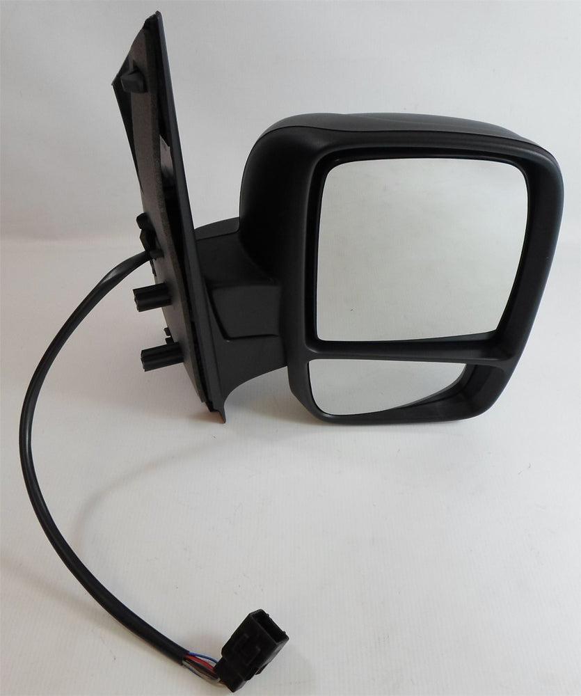 Peugeot Expert Mk.2 2007+ Twin Glass Wing Mirror Electric Black Drivers Side O/S