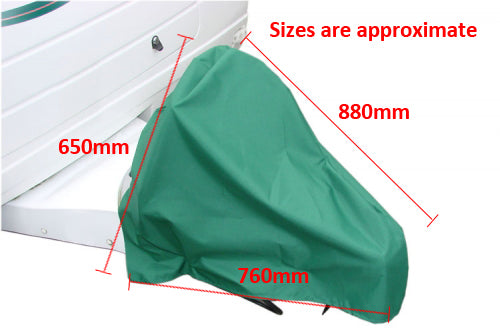 Universial Fit All Years Caravan Trailer Towing Hitch Cover Green Breathable MP9258