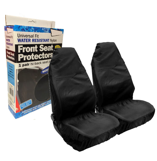 Universal Fit Car Front Seat Protectors Covers Water Resistant Pair Black SWBKSC