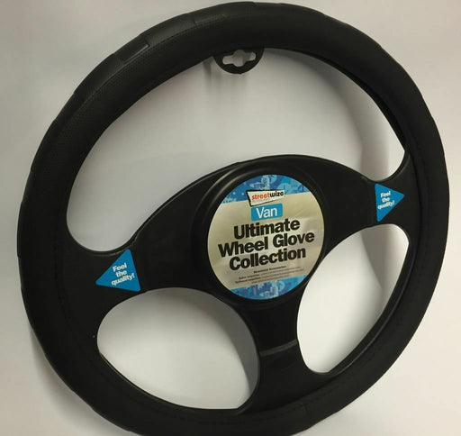 Universal Fit Black Soft Grip Steering Wheel Cover Glove 39cm SWWG13
