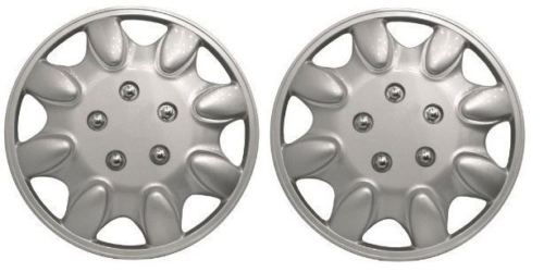"Universal Fit Titan 14"" Silver Caravan Wheel Trims Pair SWWT14"