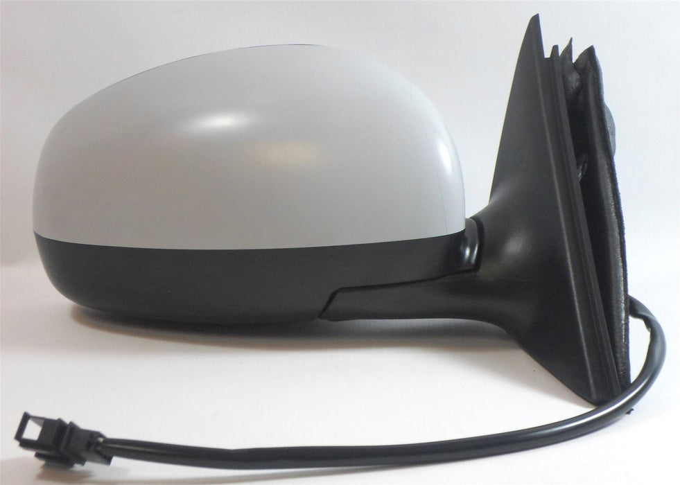 Skoda Fabia Mk.2 5/2007-4/2015 Electric Wing Mirror Primed Drivers Side O/S