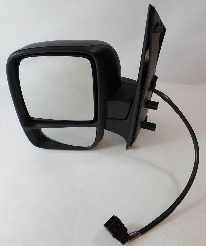 Peugeot Expert Mk2 2007+ Twin Glass Wing Mirror Electric Black Passenger Side
