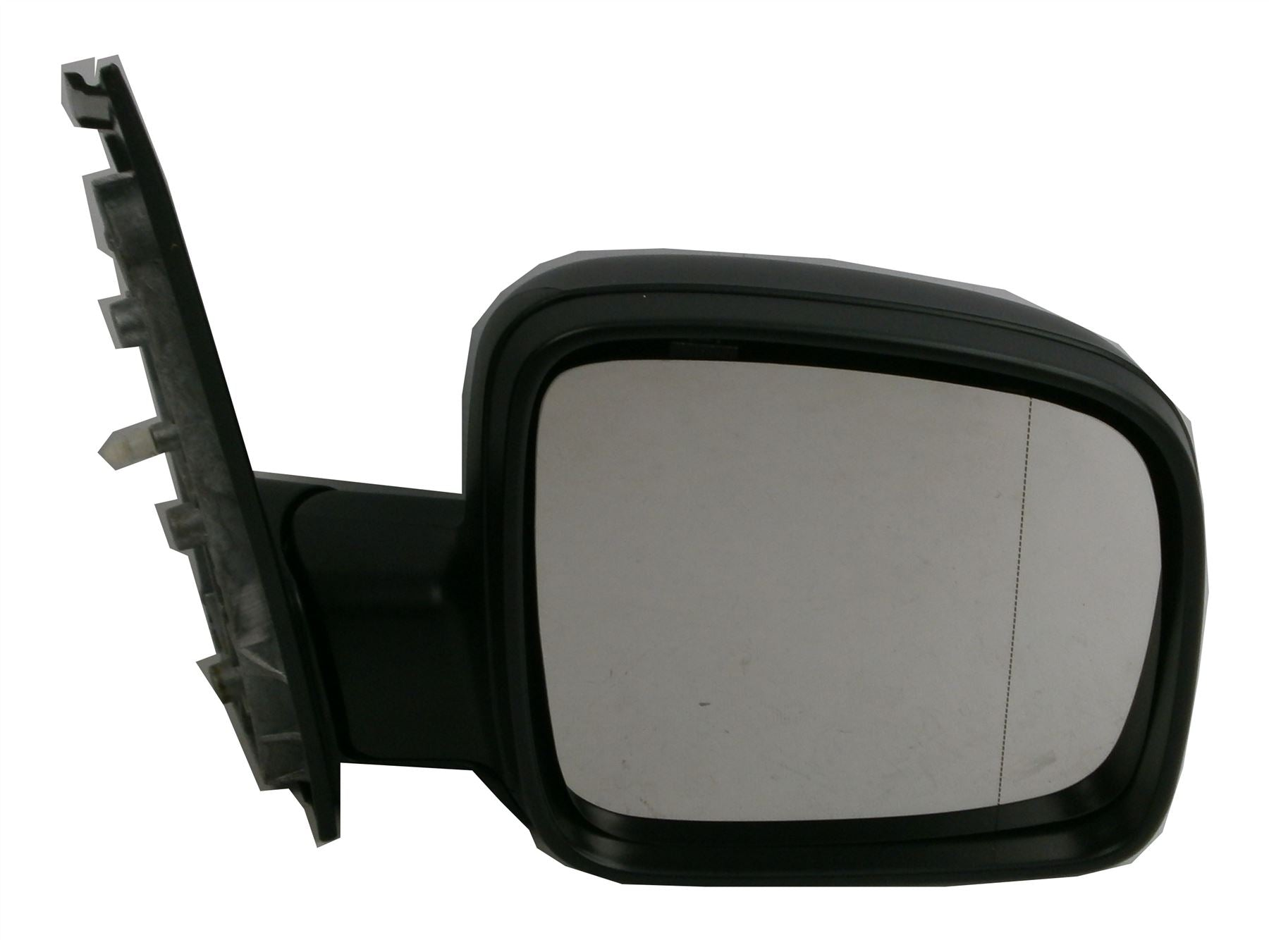 VW Caddy Mk3 3/2004-2010 Manual Wing Mirror Black Excl. Aerial Drivers Side O/S
