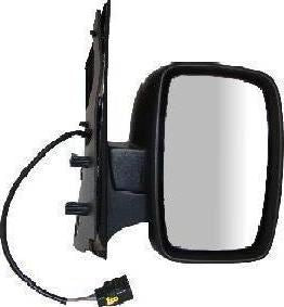 Citroen Dispatch Mk2 2007+ Single Glass Wing Mirror Electric Black Drivers Side