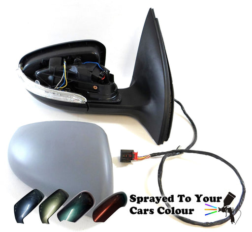 VW Golf Mk6 1/2009-6/2013 Wing Mirror Power Folding Drivers Side O/S Painted Sprayed