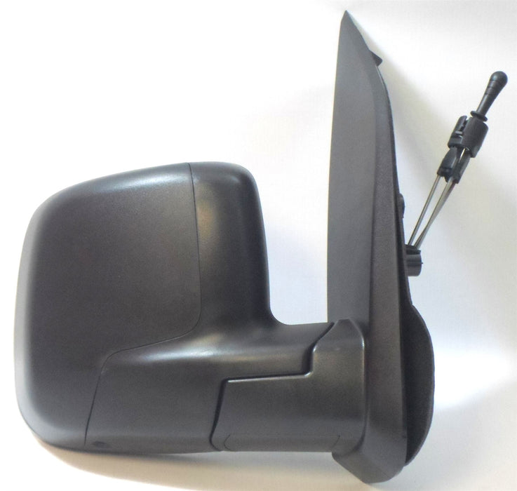 Peugeot Bipper 2008+ Cable Wing Door Mirror Black Textured Drivers Side O/S