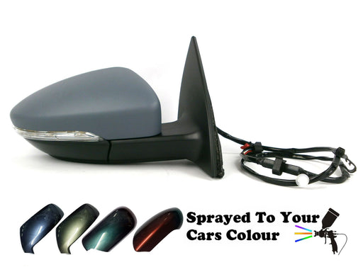 VW Eos 2006-7/2011 Electric Wing Mirror Heated Indicator Driver Side O/S Painted Sprayed
