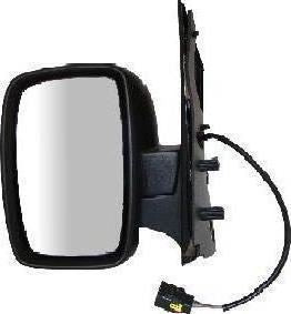 Peugeot Expert Mk2 2007+ Single Glass Wing Mirror Electric Black Passenger Side