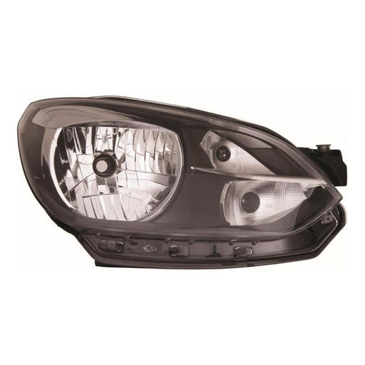 VW Up Hatchback 2012-12/2016 Black Surround Headlight Headlamp Drivers Side O/S