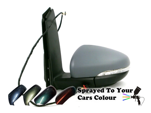 VW Touran Mk2 9/2010-2015 Electric Wing Mirror Indicator Passenger Side Painted Sprayed