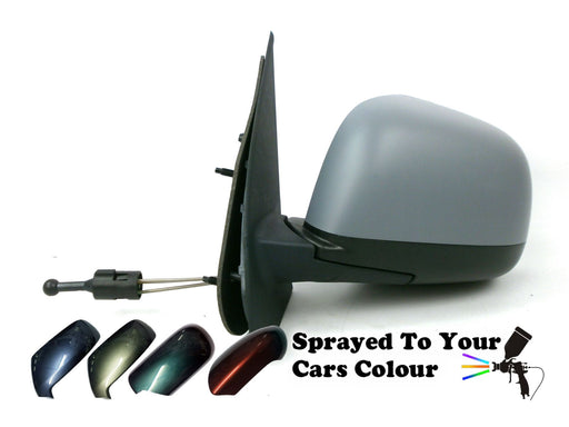 Nissan Micra Mk4 9/2010-8/2017 Cable Wing Door Mirror Passenger Side N/S Painted Sprayed