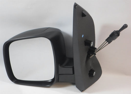 Fiat Qubo 2008+ Manual Cable Wing Door Mirror Black Textured Passenger Side N/S
