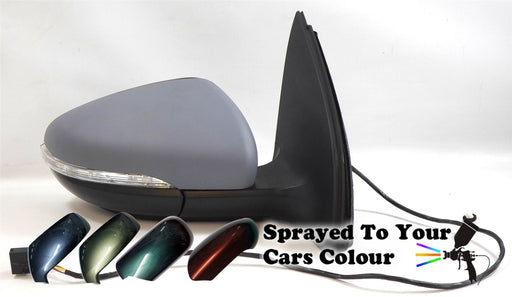 VW Golf Mk6 1/2009-6/2013 Electric Wing Mirror Indicator Driver Side O/S Painted Sprayed