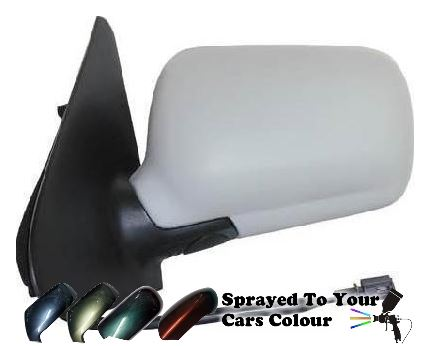 Volkswagen Polo Mk.3 1994-1999 Electric Wing Mirror Passenger Side N/S Painted Sprayed
