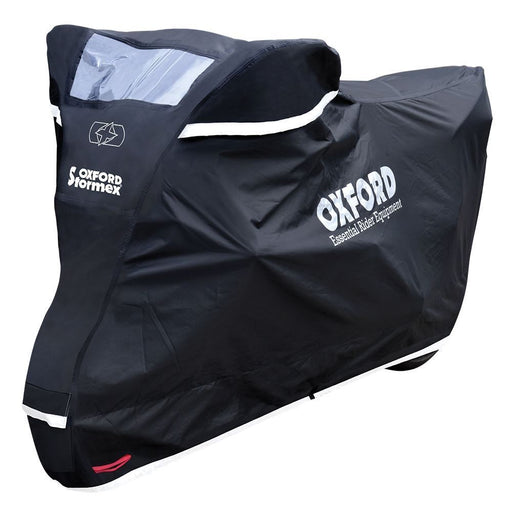 Universal Fit Oxford Stormex Waterproof Motorcycle Bike Cover Black All Weather CV333 X-Large