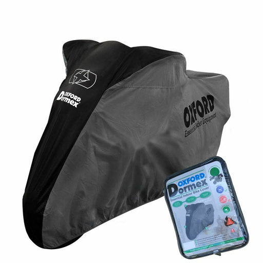 Universal Fit Oxford Motorcycle Cover Breathable Water Resistant Motorbike Black Grey CV404