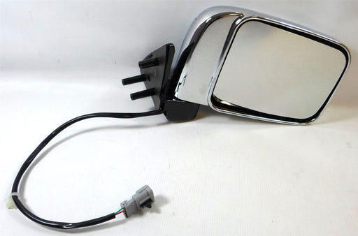 Nissan D22 Pick-Up 2001-2006 Electric Wing Mirror Chrome Finish Drivers Side O/S