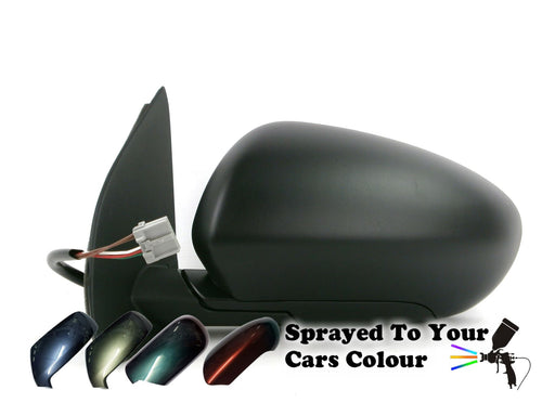 Nissan Qashqai 4//10-6//2014 Electric Wing Mirror Heated Primed Passenger Side N//S