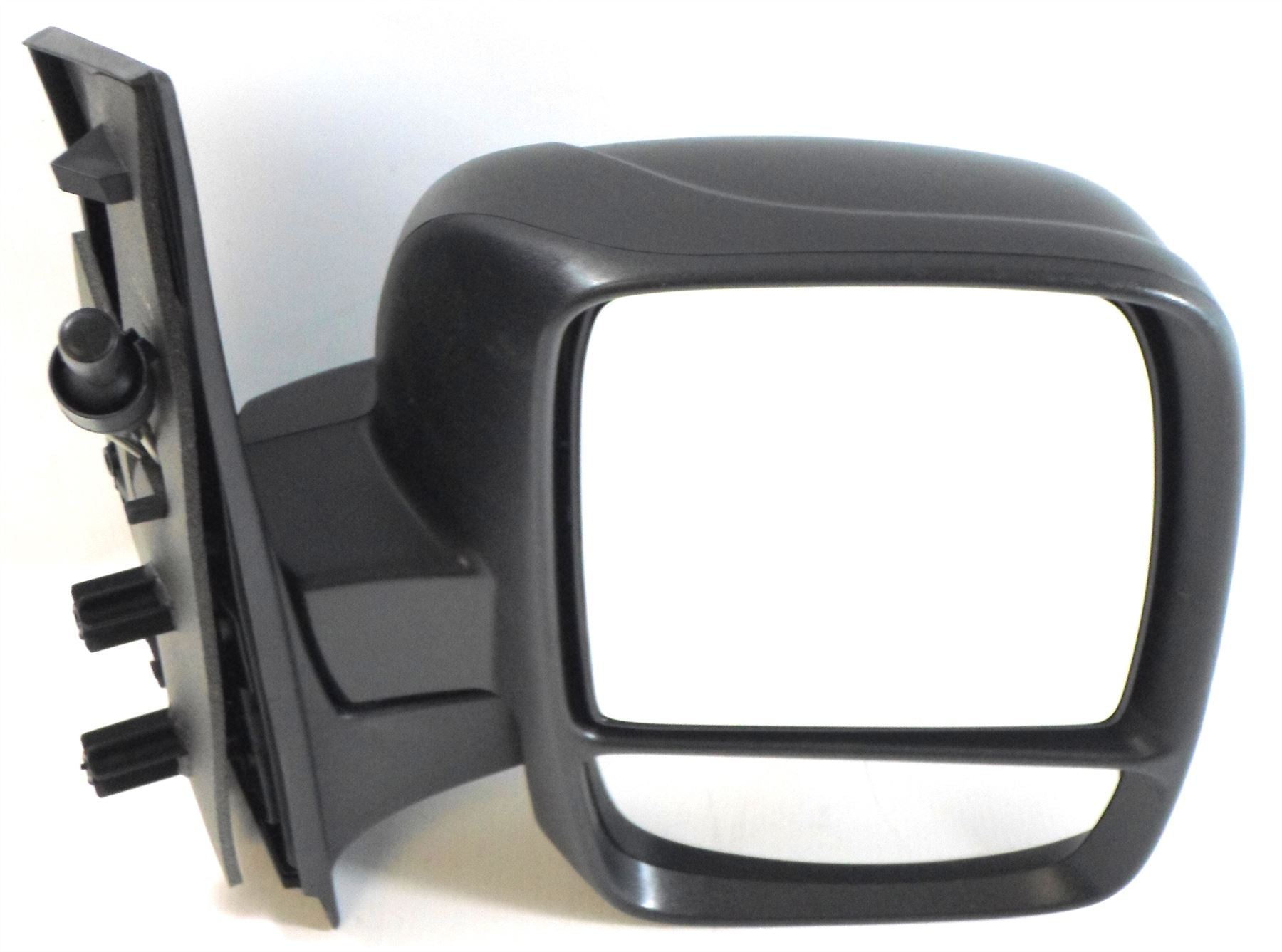 Fiat Scudo Mk.2 2007+ Twin Glass Wing Mirror Cable Black Textured Drivers Side