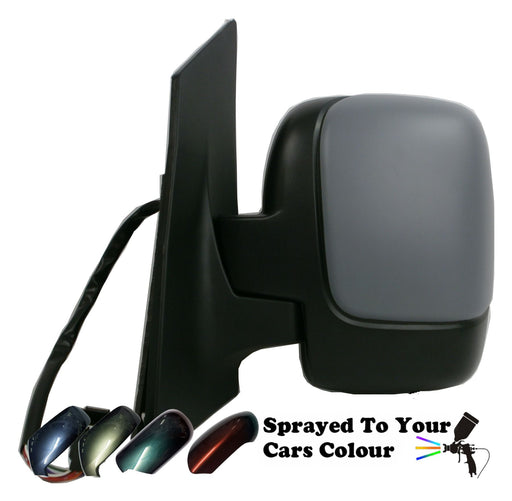 Peugeot Expert Mk2 2007+ Single Glass Wing Mirror Powered Passenger Side Painted Sprayed