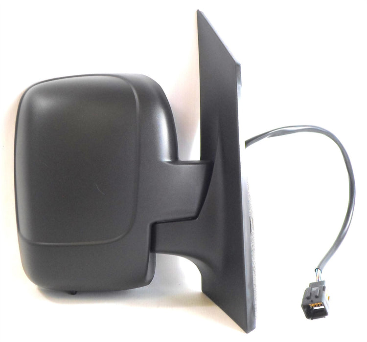 Peugeot Expert Mk2 2007+ Single Glass Wing Mirror Electric Black Drivers Side