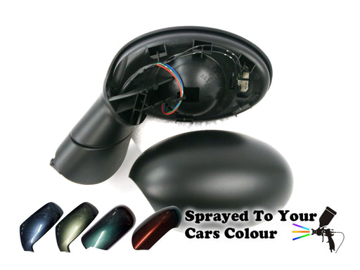 Mini Cabrio R52 Mk1 2001-2006 Wing Mirror Power Folding Passengers N/S Painted Sprayed
