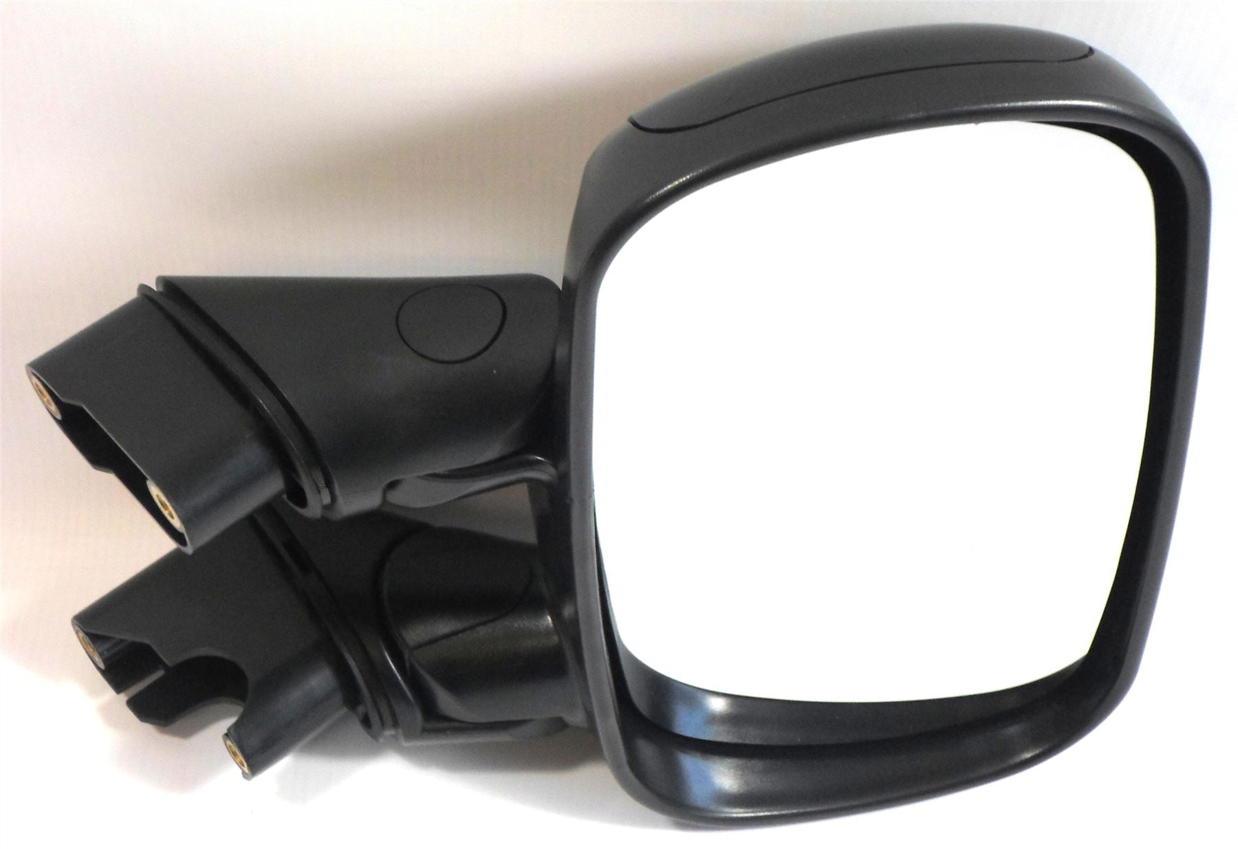 Fiat Doblo Mk.1 2001-6/2010 Manual Wing Mirror Black Textured Drivers Side O/S