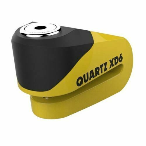 Universal Oxford Quartz XD6 Strong Alloy Motorcycle Scooter Disc Lock 6mm Pin Yellow LK265