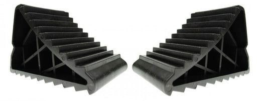 Universal Fit Caravan Heavy Duty Wheel Chocks With Handle Pair MP461B