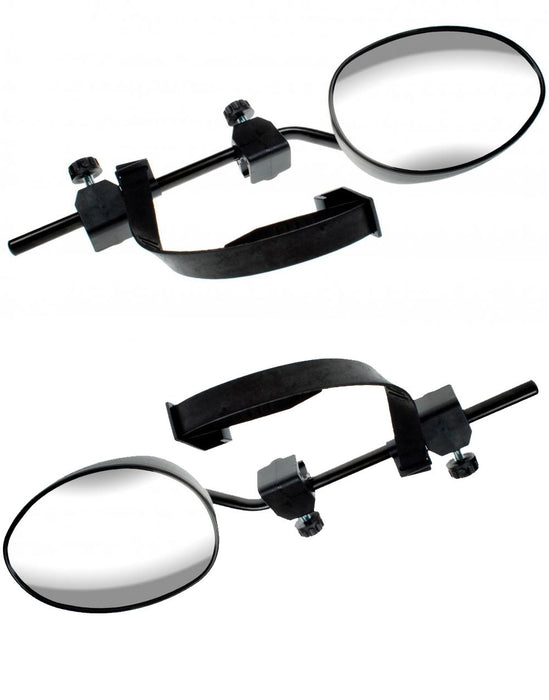 Universal Fit Caravan Trailer Extension Towing Wing Mirror Flat Glass Pair MP8328 x2