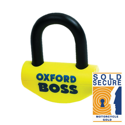 Universal Oxford Big Boss Super Strong Motorcycle Disc Lock 16mm Shackle Sold Secure OF46