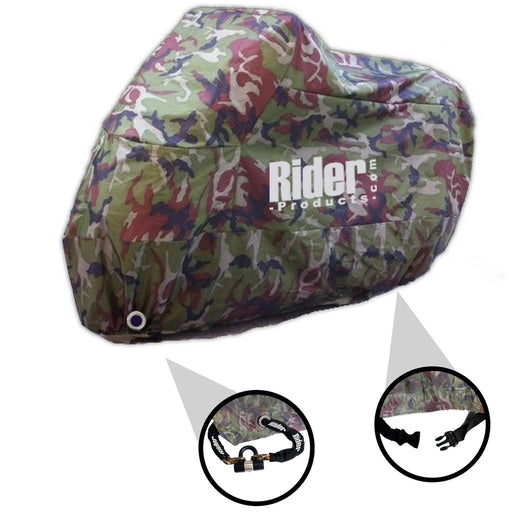Universal Rider Products Medium Waterproof Motorcycle Cover Camouflage RP301